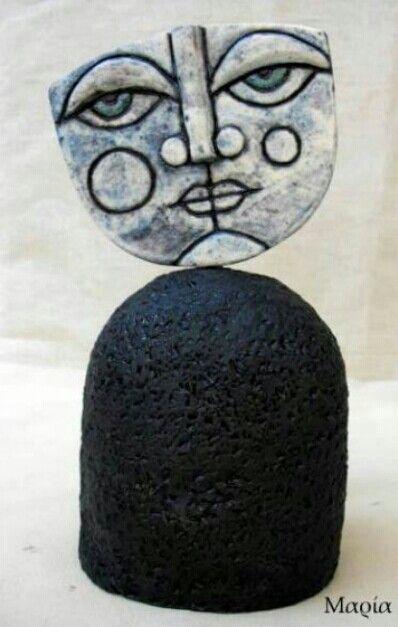Handmade clay figure