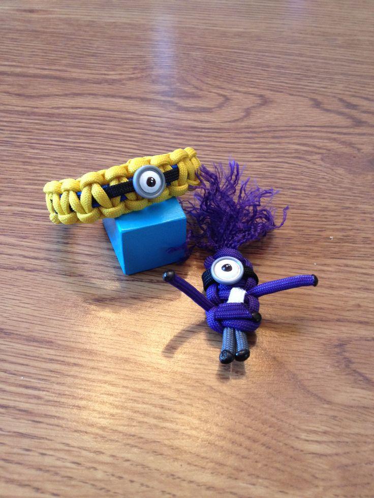 Paracord minion bracelet and keychain