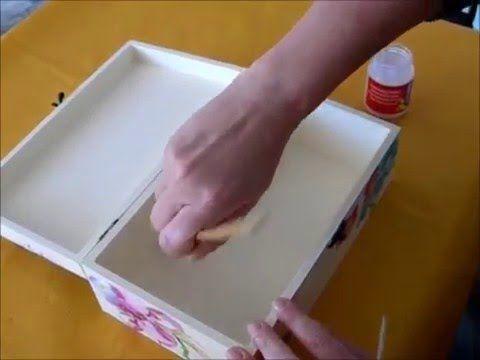 Cómo decorar cajas de madera en decoupage. - YouTube
