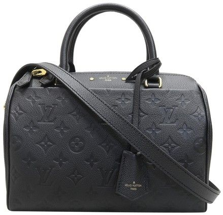 Louis Vuitton Lv Calfskin Empreinte Speedy Bandouliere 25 Satchel in black