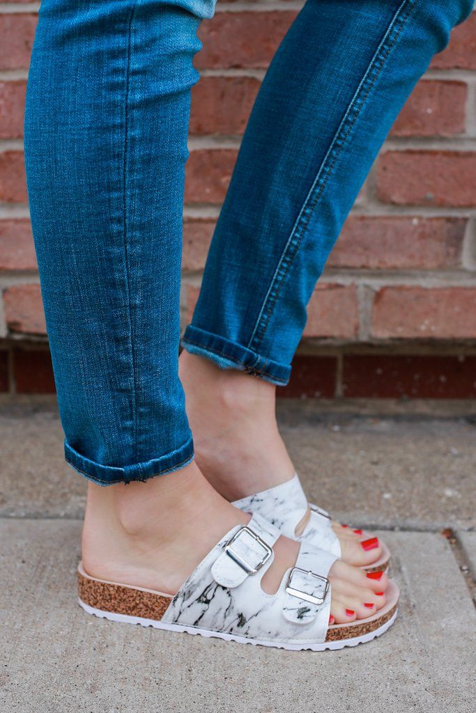 Designer Inspired Marble Sandals Delta-03