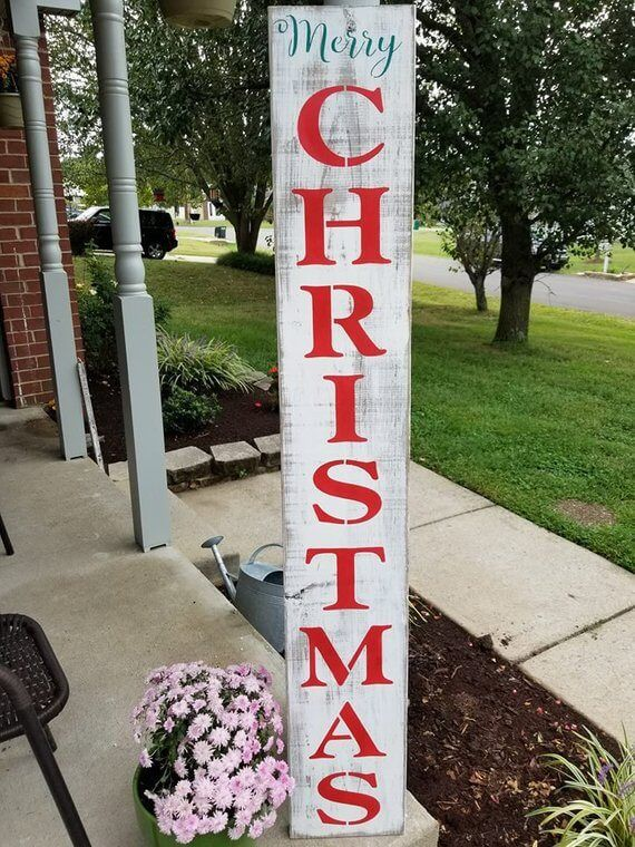 26 Lovely Christmas Wood Signs To