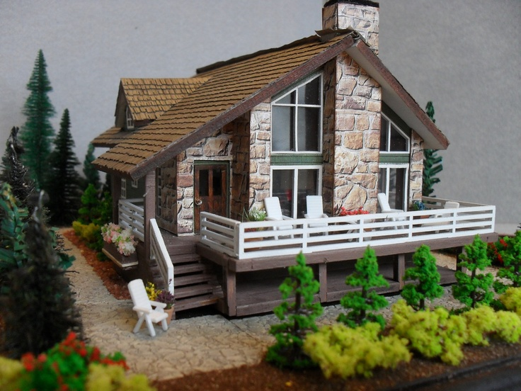 338 best miniature log cabins images on pinterest for Vacation cabin kits