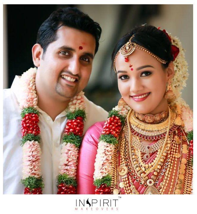 Kerala Bride Simple Hairstyle: Kerala Wedding Makeup Tutorial