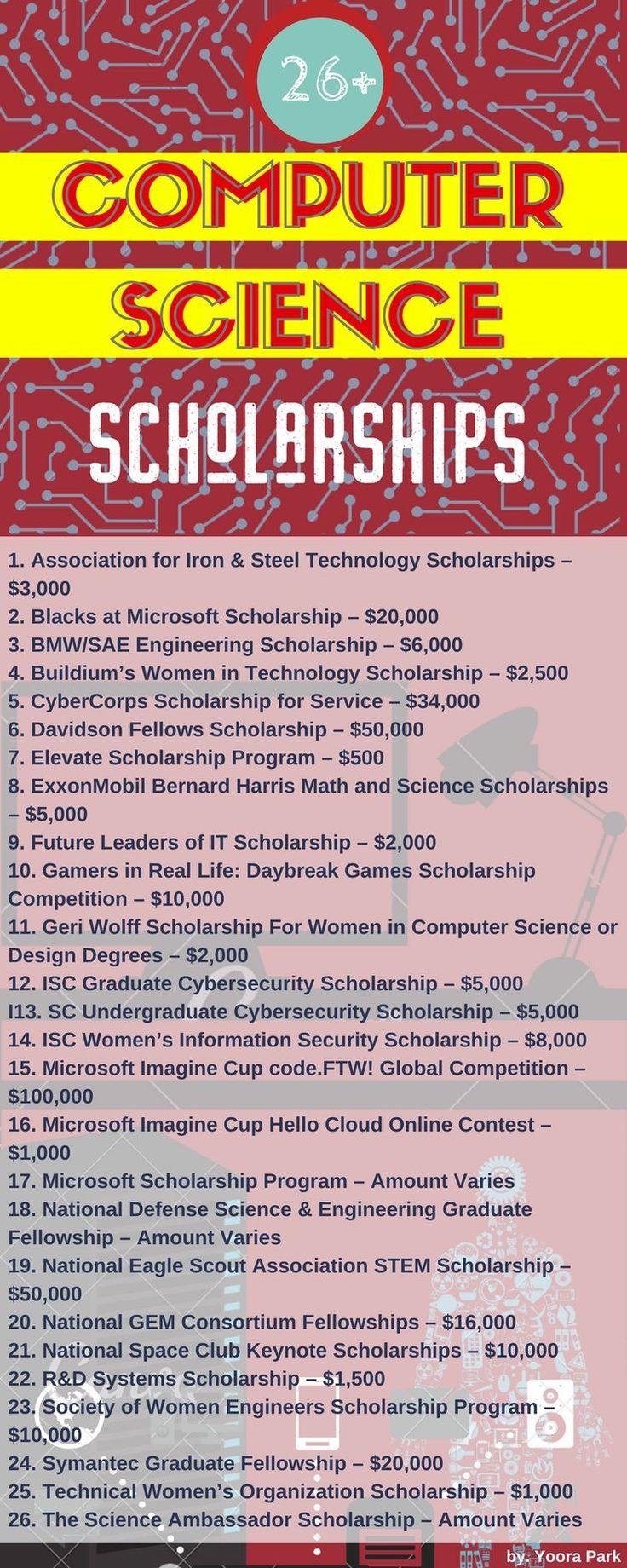 Computer science scholarships 615 best Jenu0027s Scholarship