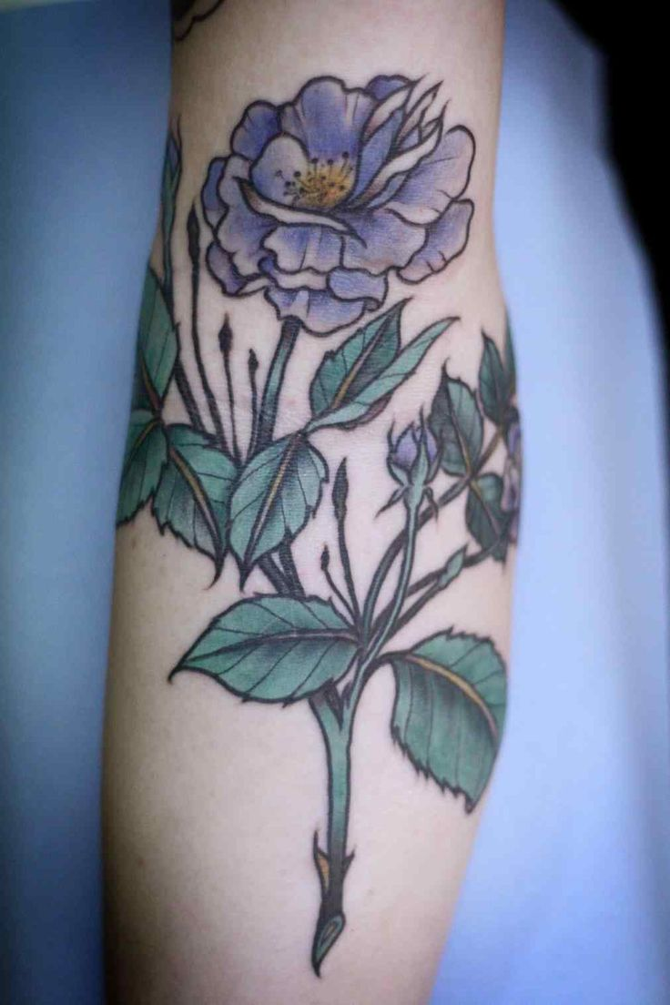 Image result for neo traditional flower tattoo