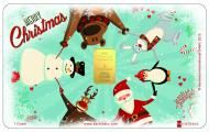 Give your beloved ones this Happy Christmas Card Special Karatbar. They will love this detailed and beautifully made card as well as you!