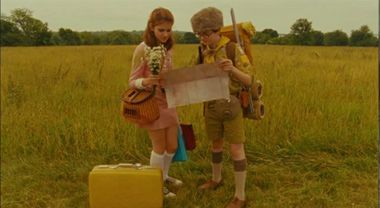 Fabulous !!!  Watch this clip from Moonrise Kingdom where Sam and Suzy finally meet up after running away from home.