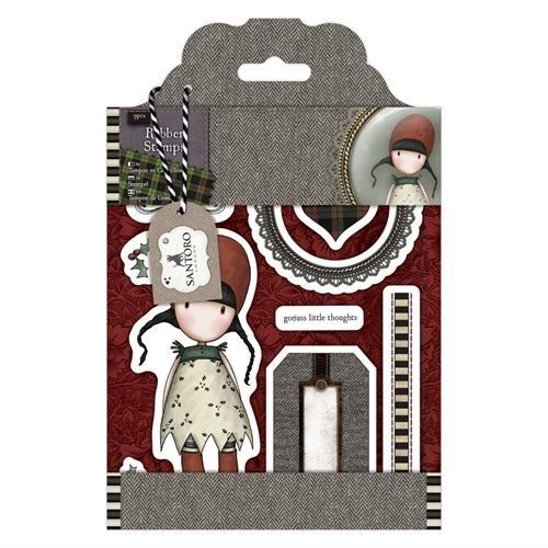Gorjuss Santoro Tweed - Holly rubber stamp