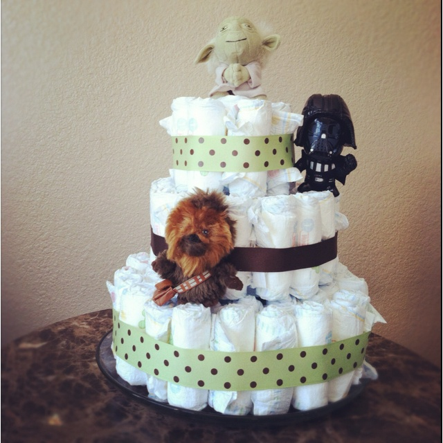 My Star Wars Diaper Cake For Baby Samuel Baby Shower