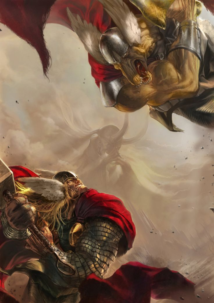 Thor vs. Beta Ray Bill by derylbraun.deviantart.com