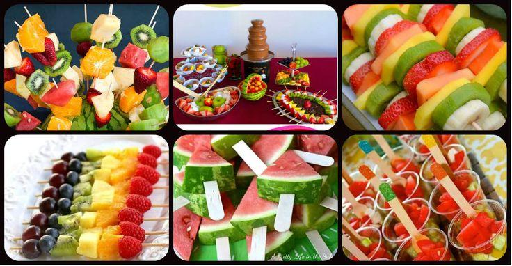 Ideas para preparar fuentes y brochetas de frutas para los más peques de la casa Crea una fuente de fruta para tu próxima fiesta o evento para que tus invitados quieran volver por más. Usa frutas frescas de buena calidad...