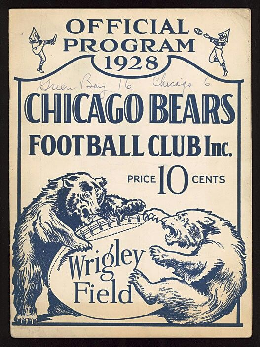 1928 Chicago Bears Football Club program - Wrigley Field