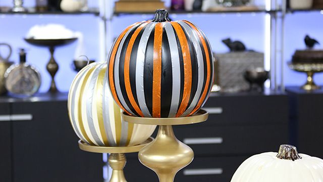 Striped Pumpkins #DIY #Halloween