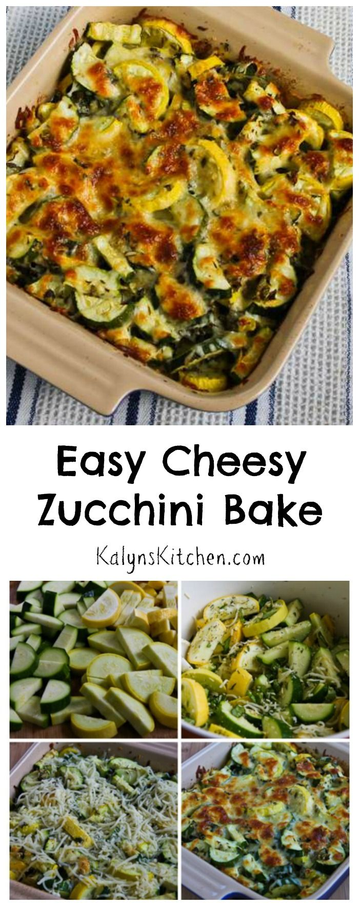 This simple but fabulous recipe for Easy Cheesy Zucchini Bake has been a huge hit ever since I first posted it in 2011, and now the recipe has been pinned over 1M times!  If you're going to have a surplus of zucchini coming up, you want to try this easy low-carb and gluten-free zucchini recipe!  [from KalynsKitchen.com]