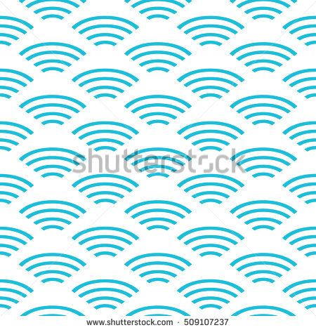 Chinese abstract wavy pattern. Asian traditional seamless blue pattern. Vector illustration. Ornamental silk texture. Geometric waves shapes background. Summer collection.