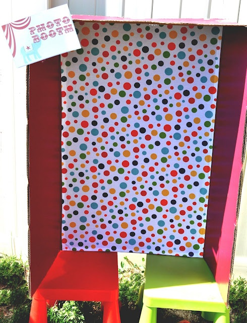 Make photo booth from cardboard: Photobooth, Birthday Idea, Photo Booths, Big Top, Carnival Party, Circus Party, Party Ideas, Birthday Party