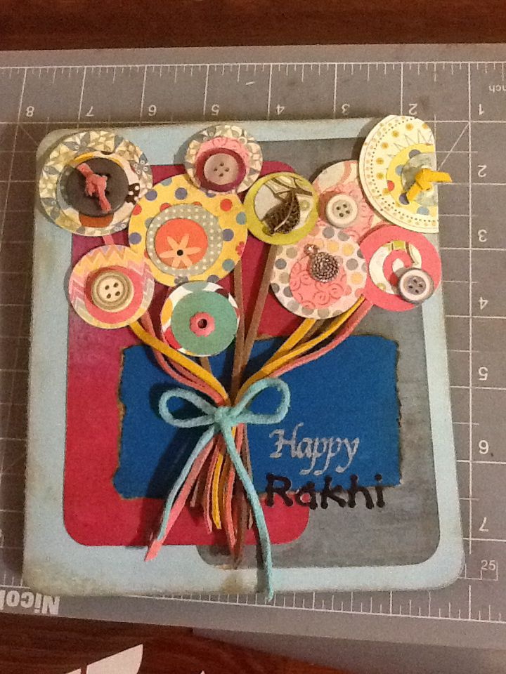 how to make rakhi for competition with waste material