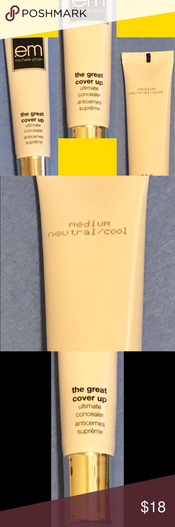 Michelle Pham cover up ' the great cover up '. Ultimate concealer-MEDIUM (neutral/cool) michelle phan Makeup Concealer