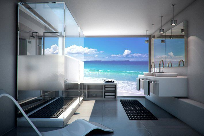 Make your bathroom stylish and visually appealing with custom-designed and coloured glass splashbacks from #PrintsOnGlass. Truly the most effective way to make your bathroom unique and attractive.