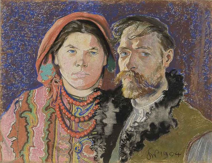 Stanisław Wyspiański, Autoportret z żoną, 1904 r.
