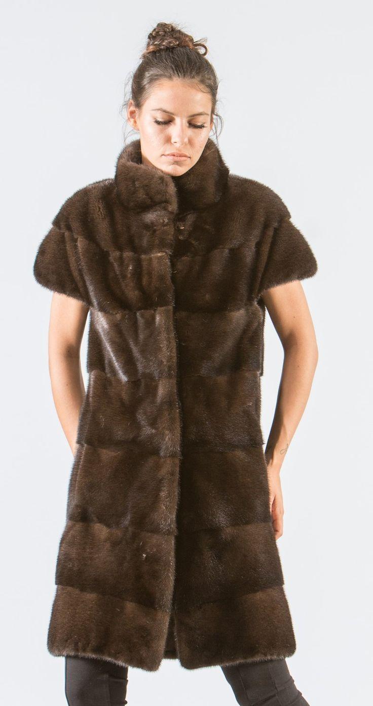 Brown Mink Long Fur Vest     #brown #mink #fur #vest #real #style #realfur #elegant #haute #luxury #chic #outfit #women #classy #online #store