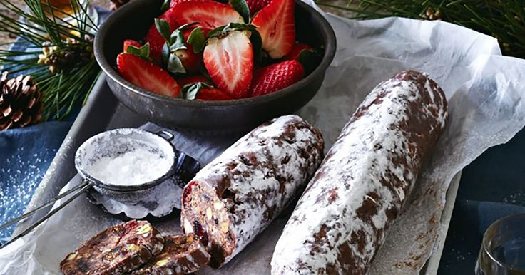 This chocolate and Amaretti salami recipe is the perfect dessert.