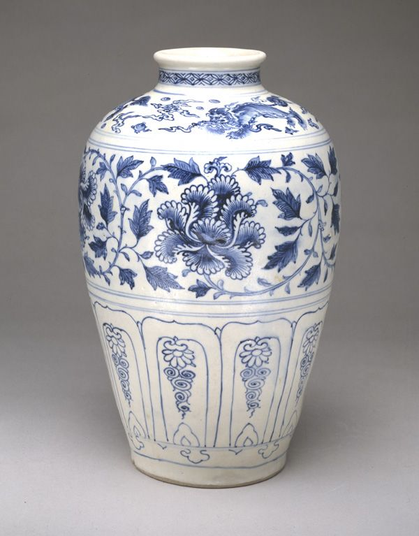 Jar - 15th century - Later Le dynasty - Stoneware with cobalt pigment under transparent glaze; iron-oxide wash on base - Vietnam