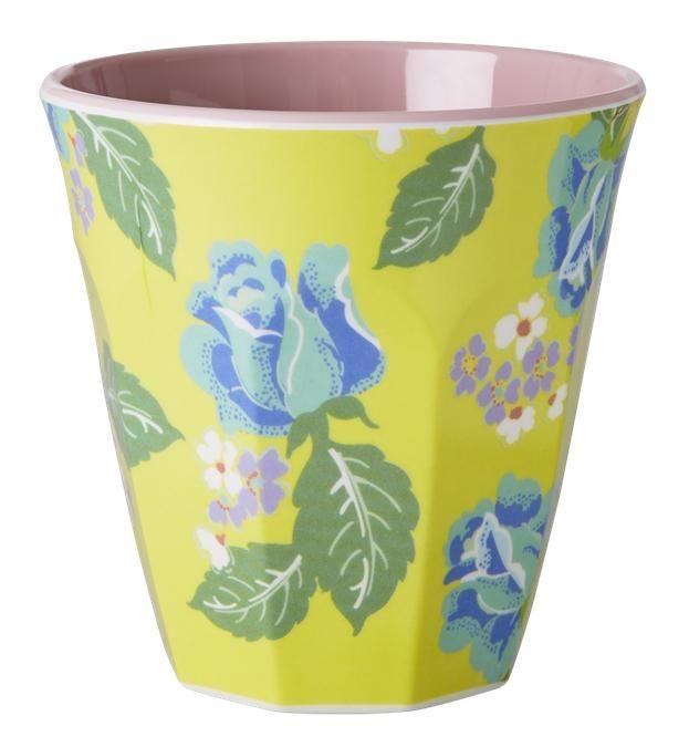 Melamine cup - Vintage Rose Yellow