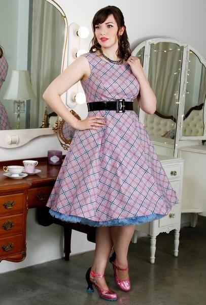 Olivia Dress - Raspberry Plaid