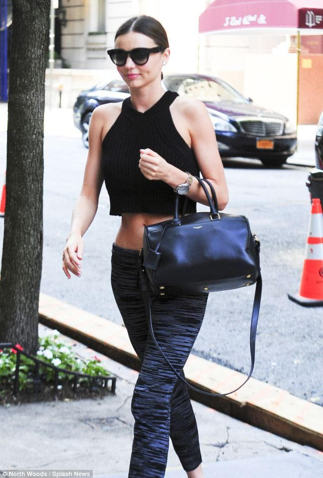 Hard work: A mix of yoga, Pilates and running keeps this A-lister looking lean