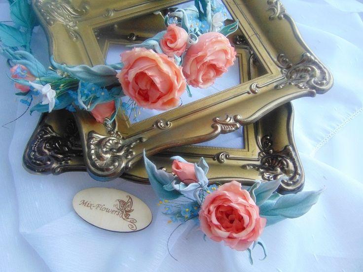 Коралловые розы.. продолжение  #жантильная_флористика #шелковые_розы #цветы_на_заказ #винтаж #svetlanasemyannikova #mixflowers #zhantilnye_floristry #mixflowers_в_наличии