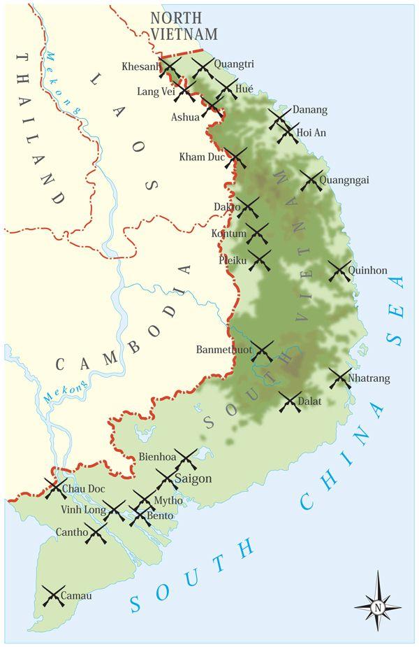 The Best North Vietnamese Army Ideas On Pinterest Vietnam - Change map of 1968 us
