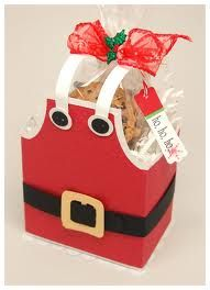 Cute secret Santa idea - this is a commercial site that sells templates. I'm thinking with a little thought you could create this from a basic white gift box, trimmed and embellished.