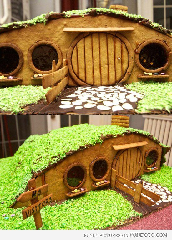 hobbit gingerbread house amazing edible gingerbread house looking like houses from hobbit and the lord - Lord Of The Rings Hobbit Home