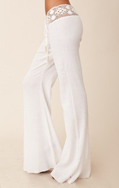 Michelle Jonas Gauze Pants: Lounges Pants, Lace Tops, Beach Pants, Beaches Pants, Linens Pants, White Pants, Lounges Wear, Lounge Pants, Comfy Pants