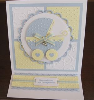 New Grandparents Baby Boy card by: michele1