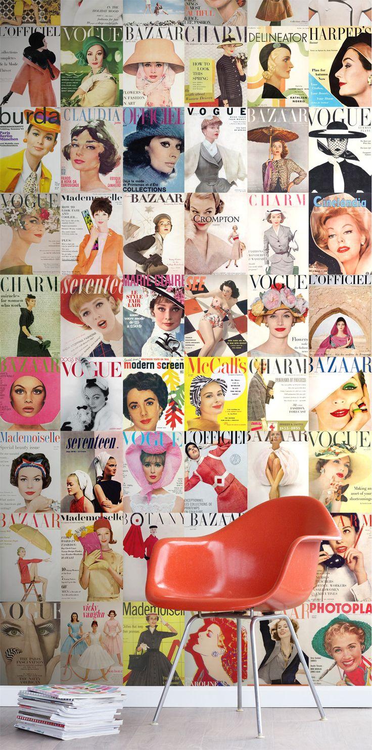 wallpaperXL magazine covers collection Pretty Nostalgic ESTAhome.nl