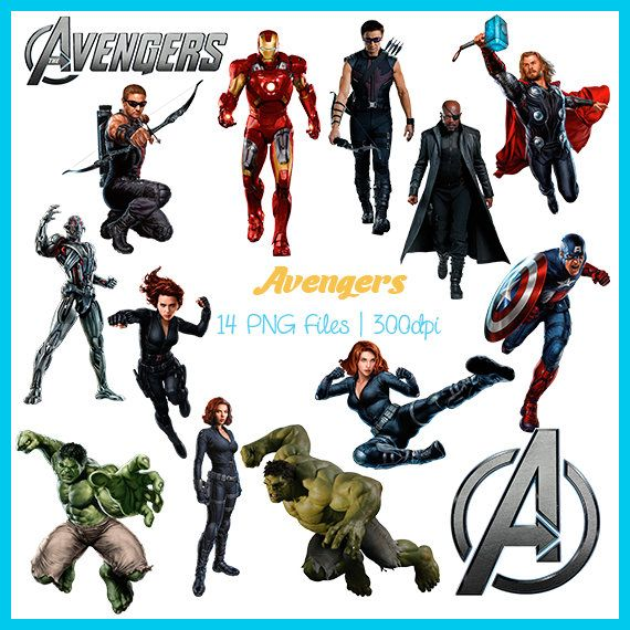 Avengers Clipart, Avengers Images, Avengers PNG, Avengers Supplies, Avengers Clipart, Scrapbook, Downloadable, DSC-002