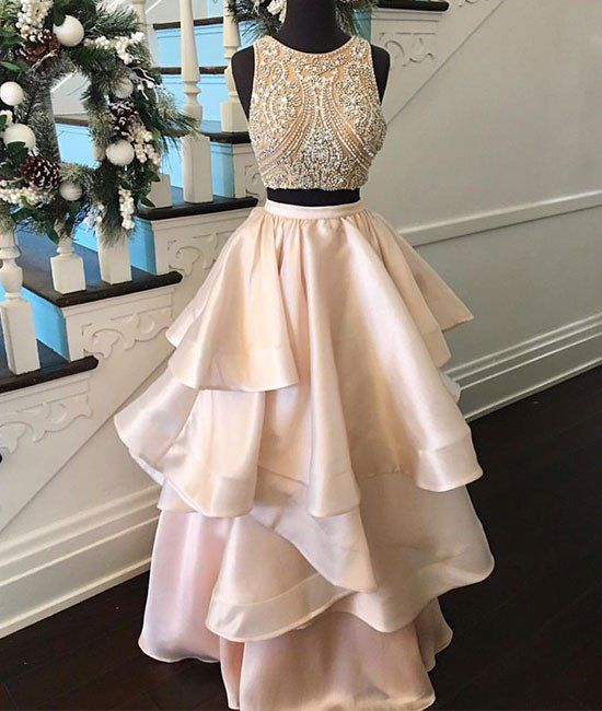 chic prom gowns,prom dresses 2017,2 pieces prom party dresses,sparkling party dresses