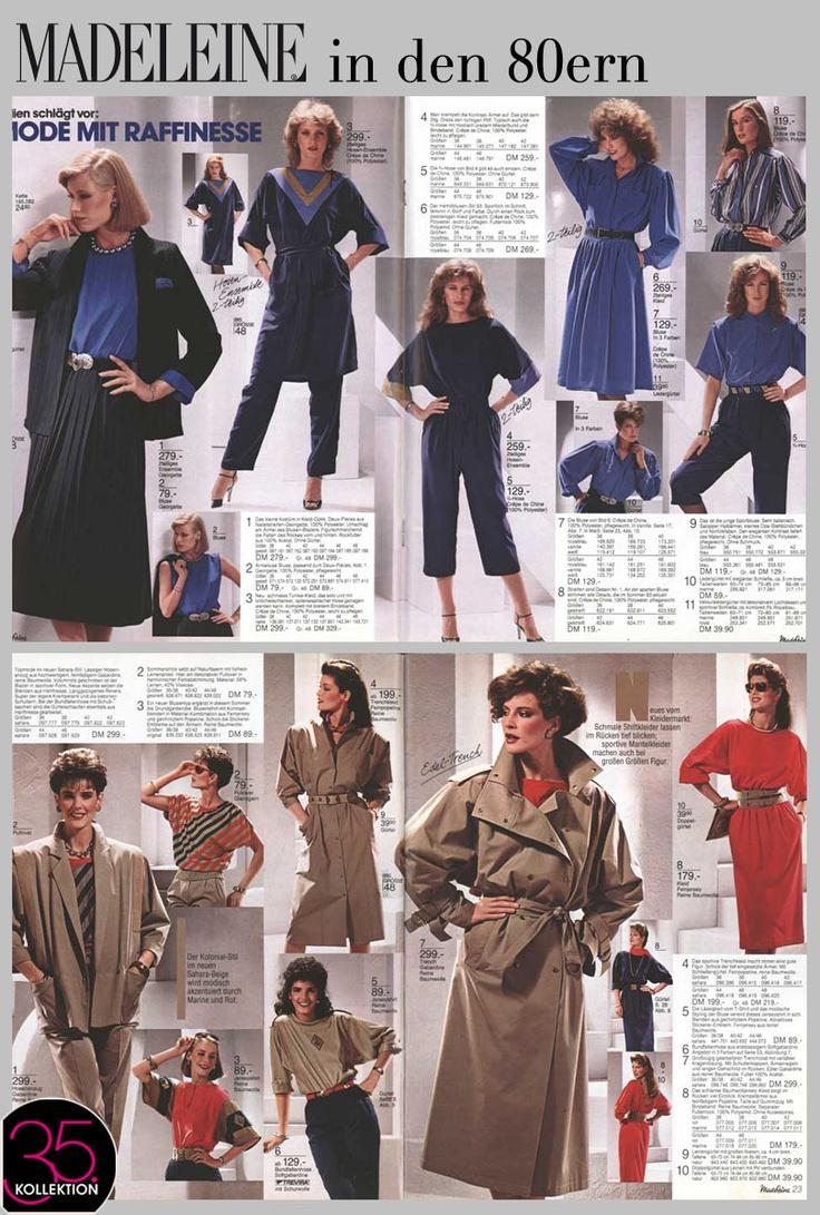 Die frühen 80er waren modisch geprägt durch breite Schulterpolster und noch breitere Taillengürtel. Hier gibt's einen kleinen Einblick in unser damaliges Sortiment.