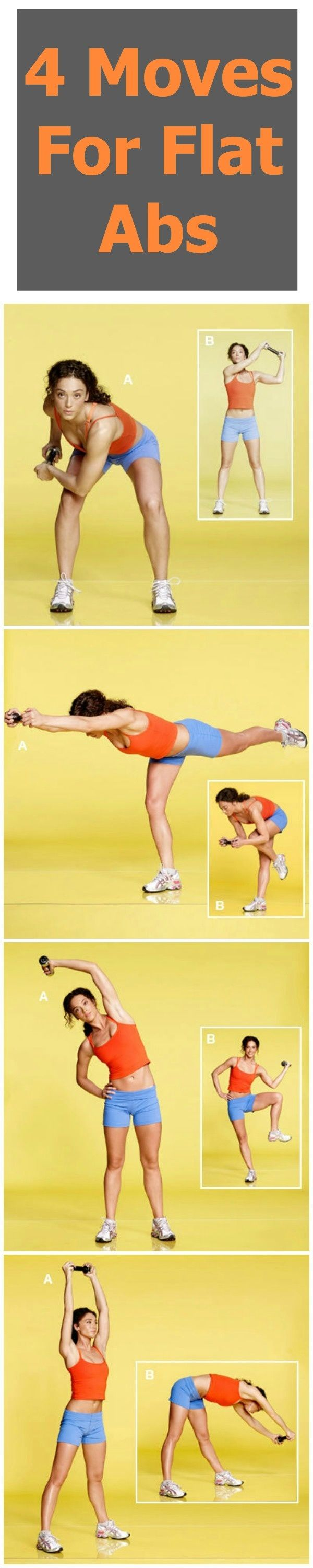 4 Simple Moves for Flat Abs: a different approach than variations of crnches/sit ups on the floor