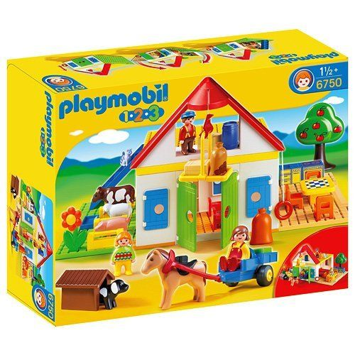 Playmobil - 6750 - Jeu de construction - Coffret Grande ferme 1.2.3