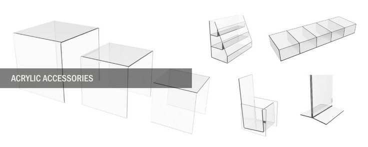 acrylic accessories display fixtures by fermos