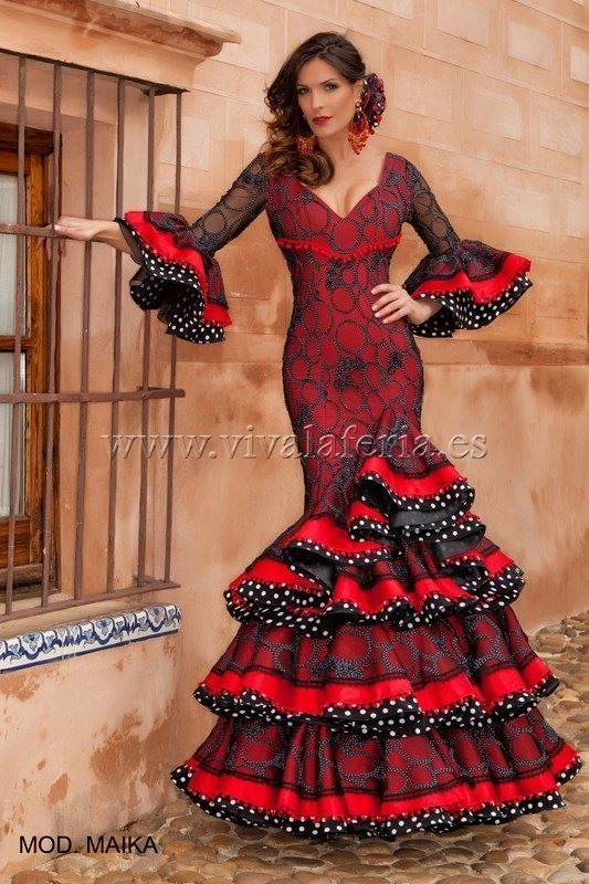 Polka dot ruffle edging with red - love this look!