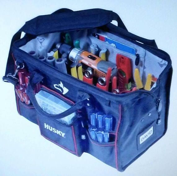 Check out this item in my Etsy shop https://www.etsy.com/listing/554116289/husky-electrician-tool-storage-tote