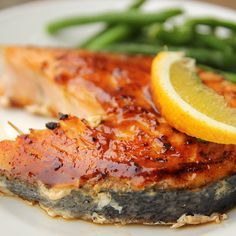 Oven baked lemon pepper salmon steak.Salmon steak with vegetables baked in convection oven.Simple and easy!