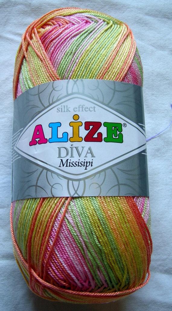 Alize Diva Missisipi batik design yarn by HandyFamily on Etsy, €4.20