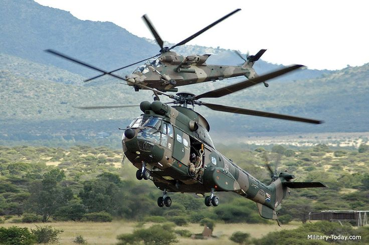 South African Air Force Rooivalk & Oryx