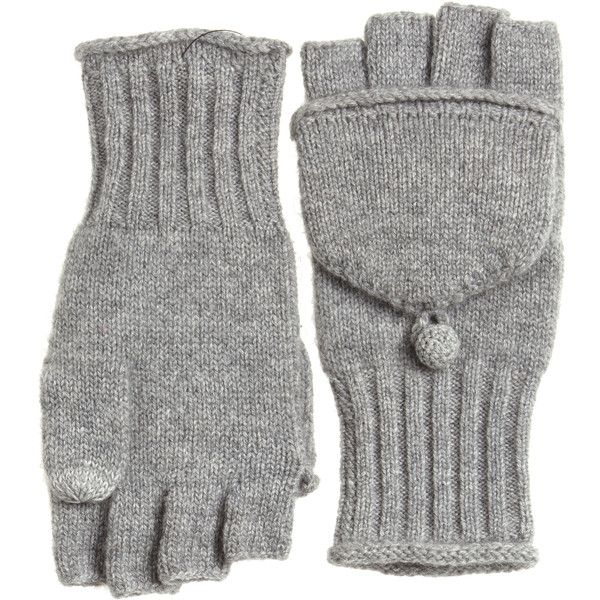 CALYPSO St. Barth Molise Cashmere Flip Gloves ($95) ❤ liked on Polyvore featuring accessories, gloves, cashmere gloves, flip gloves, convertible mittens, convertible gloves and mitten gloves